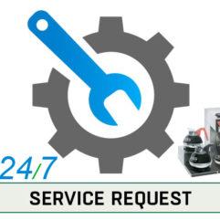 Service Button Service Request